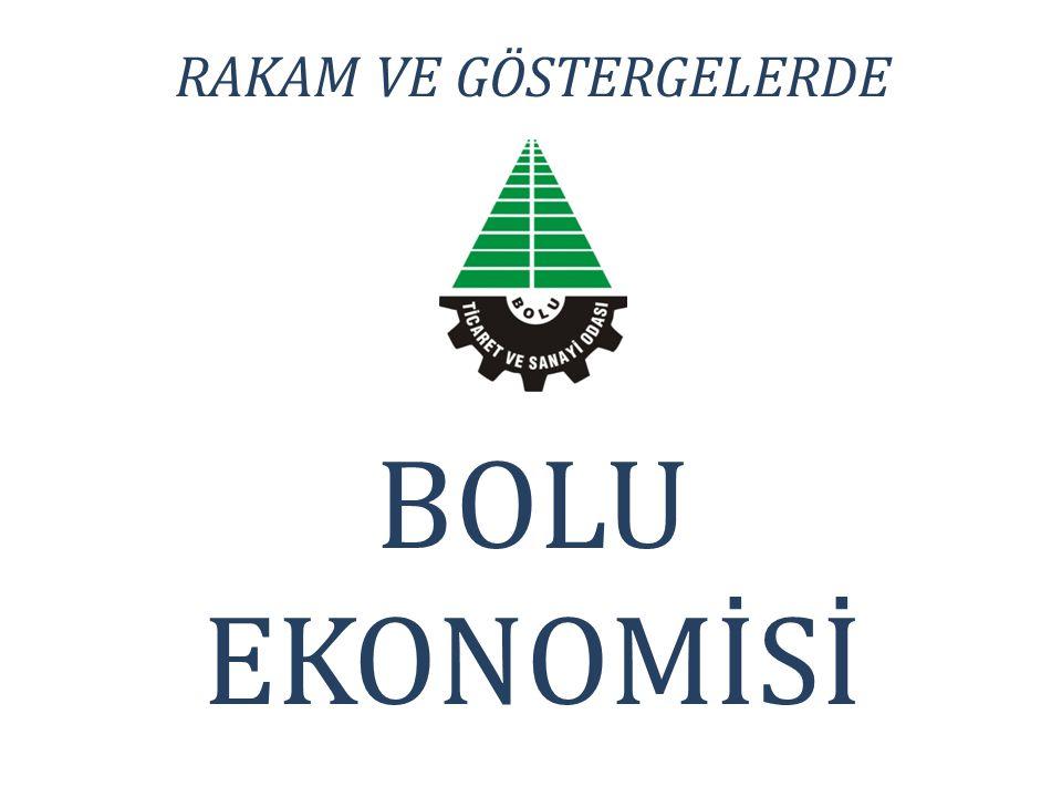 RAKAM VE GÖSTERGELERDE BOLU EKONOMİSİ