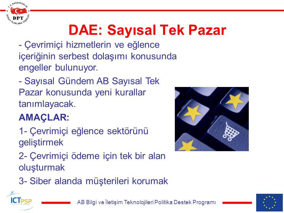 AB Bilgi ve İletişim Teknolojileri Politika Destek Programı DAE: Sayısal Tek Pazar - Çevrimiçi hizmetlerin ve eğlence içeriğinin serbest dolaşımı konusunda engeller bulunuyor.