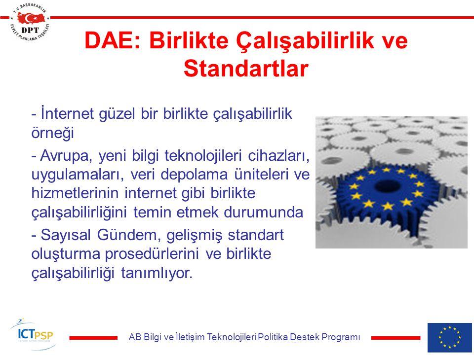 AB Bilgi ve İletişim Teknolojileri Politika Destek Programı DAE: Birlikte Çalışabilirlik ve Standartlar - İnternet güzel bir birlikte çalışabilirlik ö