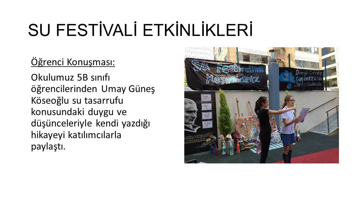 Su Festivali Değerlendirme Formunun Sonuçlarının Değerlendirilmesi Festival sonunda katılımcılardan okulumuzun internet sayfasında bağlantısı olan Su