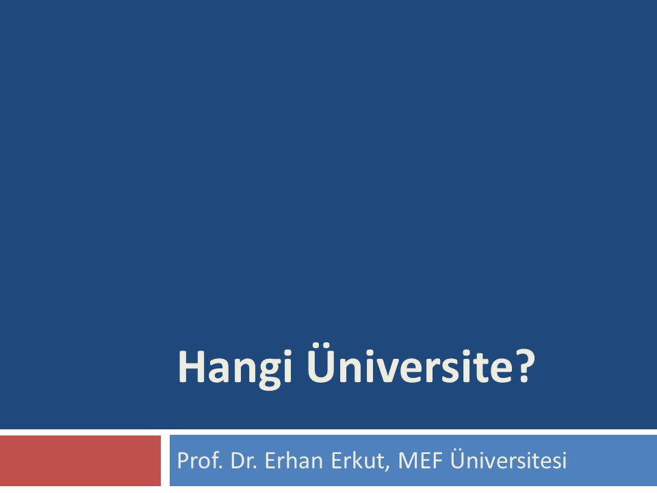 Prof. Dr. Erhan Erkut, MEF Üniversitesi Hangi Üniversite