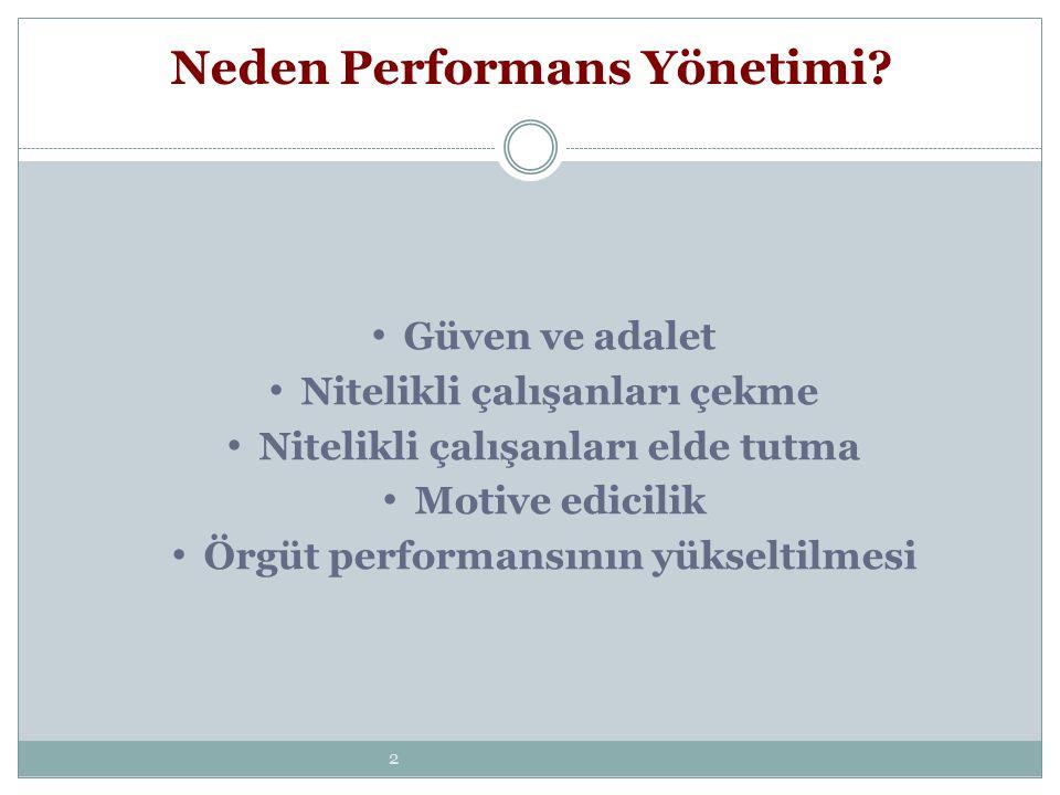33 Sistemi Uygularken -Performans sisteminin yansımaları çalışanlarla paylaşılmalıdır.