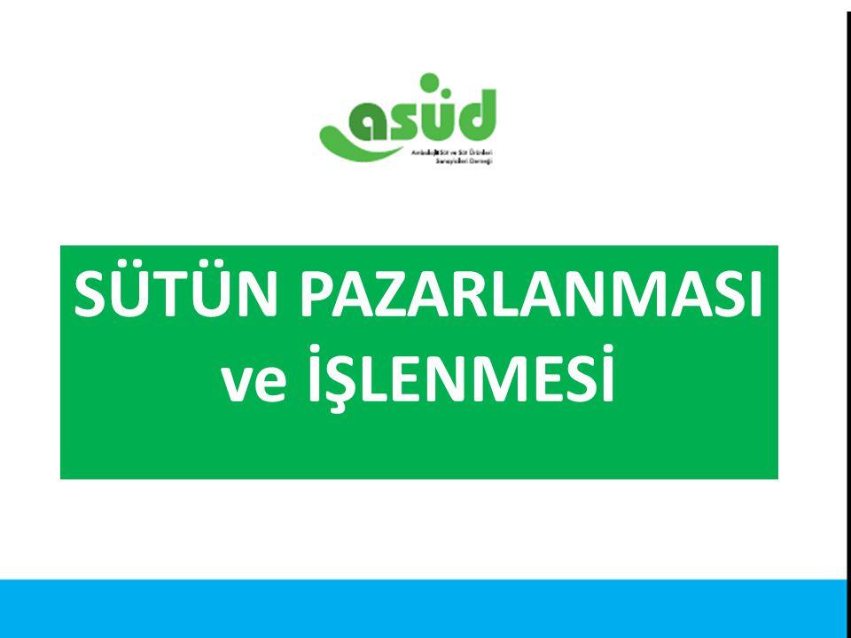 Kaynak: Türkiye İstatistik Kurumu SÜTÜN PAZARLANMASI ve İŞLENMESİ