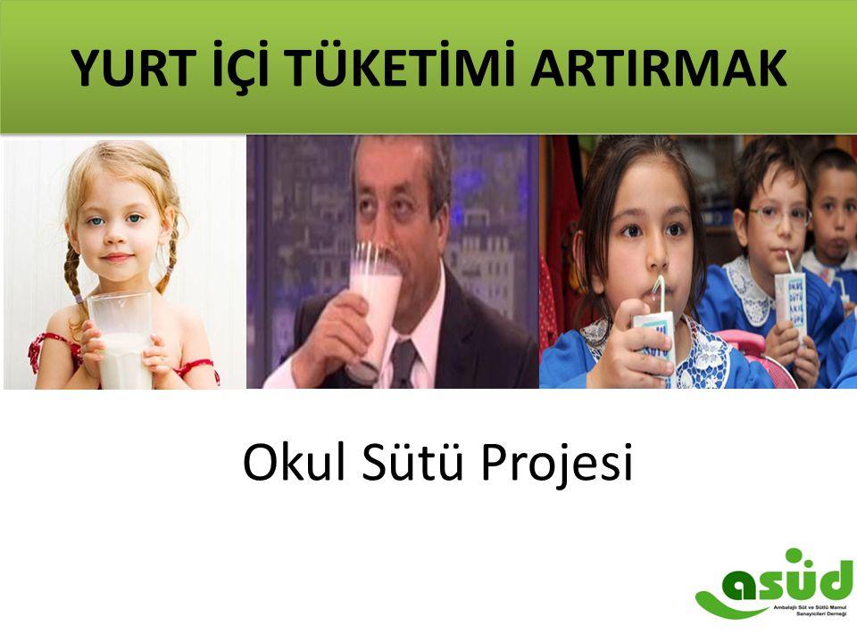 8 Okul Sütü Projesi YURT İÇİ TÜKETİMİ ARTIRMAK