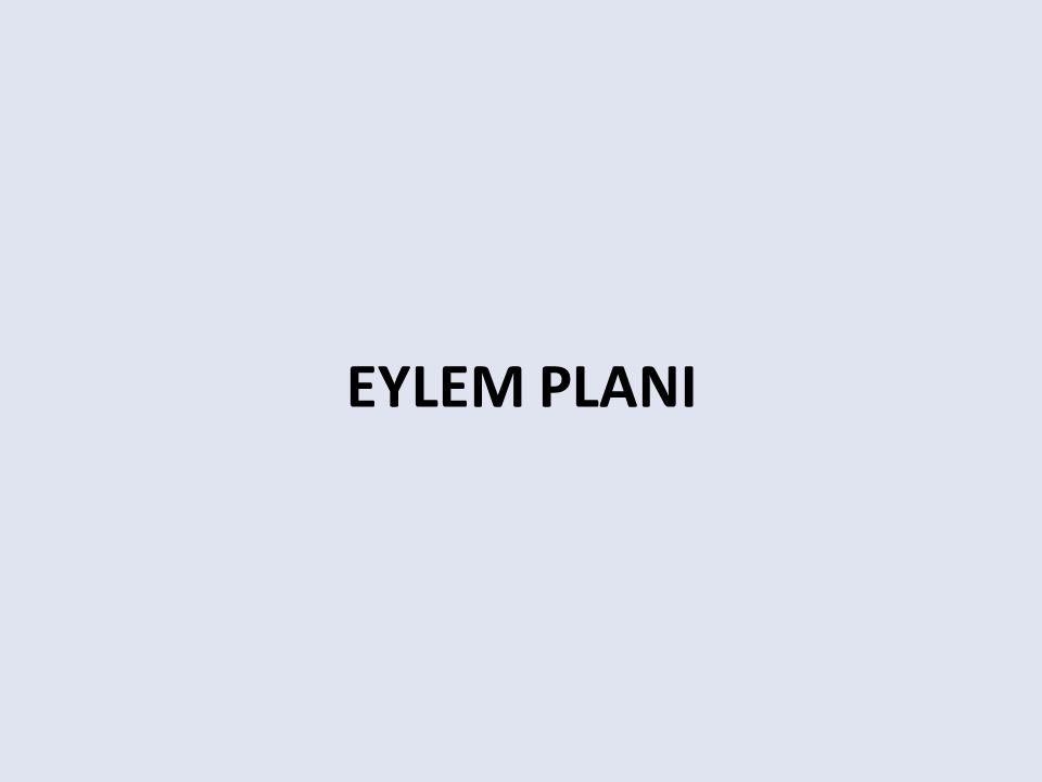EYLEM PLANI