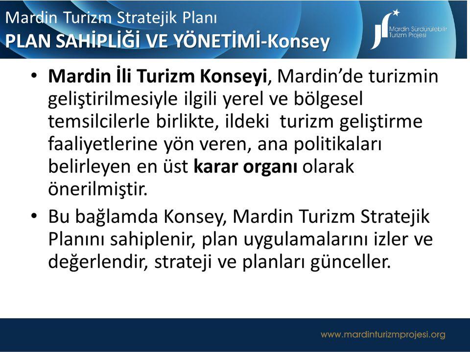UZUN ERİMLİ TURİZM YÖNETİŞİM MODELİ Mardin Turizm Stratejik Planı PLAN SAHİPLİĞİ VE YÖNETİMİ-Konsey