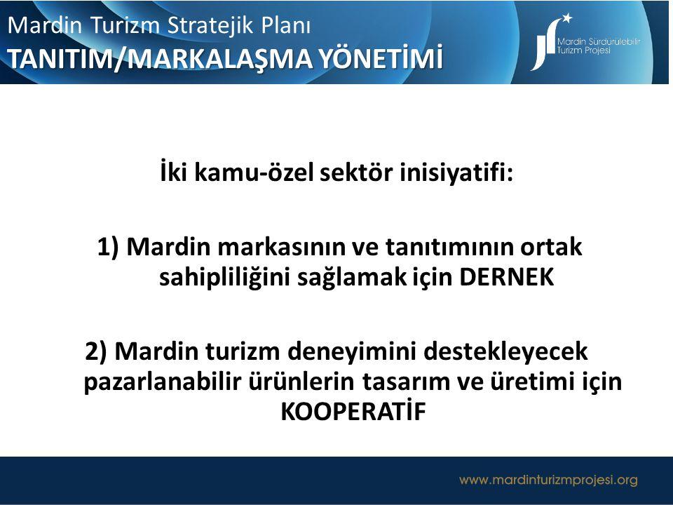 UZUN ERİMLİ TURİZM YÖNETİŞİM MODELİ Mardin Turizm Stratejik Planı TANITIM/MARKALAŞMA YÖNETİMİ İki kamu-özel sektör inisiyatifi: 1) Mardin markasının v