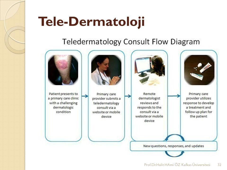 Tele-Dermatoloji Prof.Dr.Halit HAmi ÖZ Kafkas Üniversitesi32