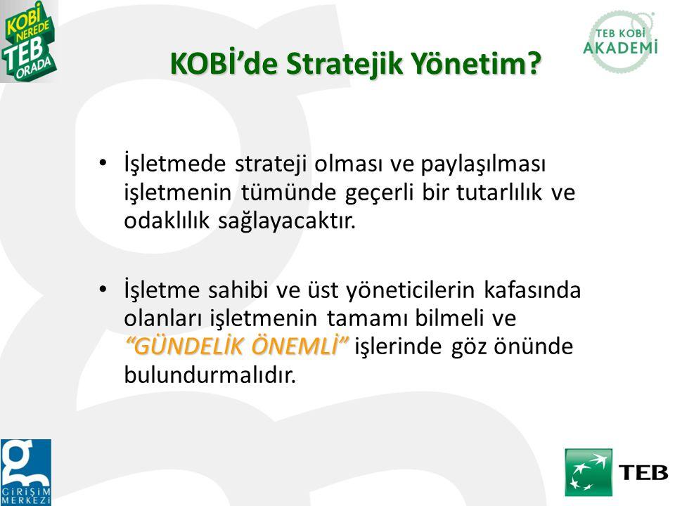KOBİ'de Stratejik Yönetim.