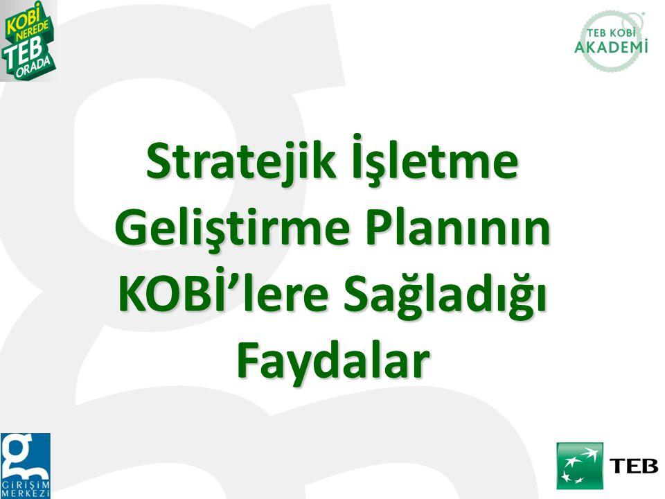 Stratejik İşletme Geliştirme Planının KOBİ'lere Sağladığı Faydalar