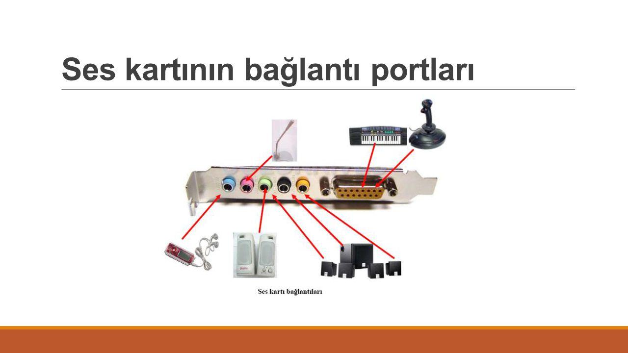 Ses kartının bağlantı portları