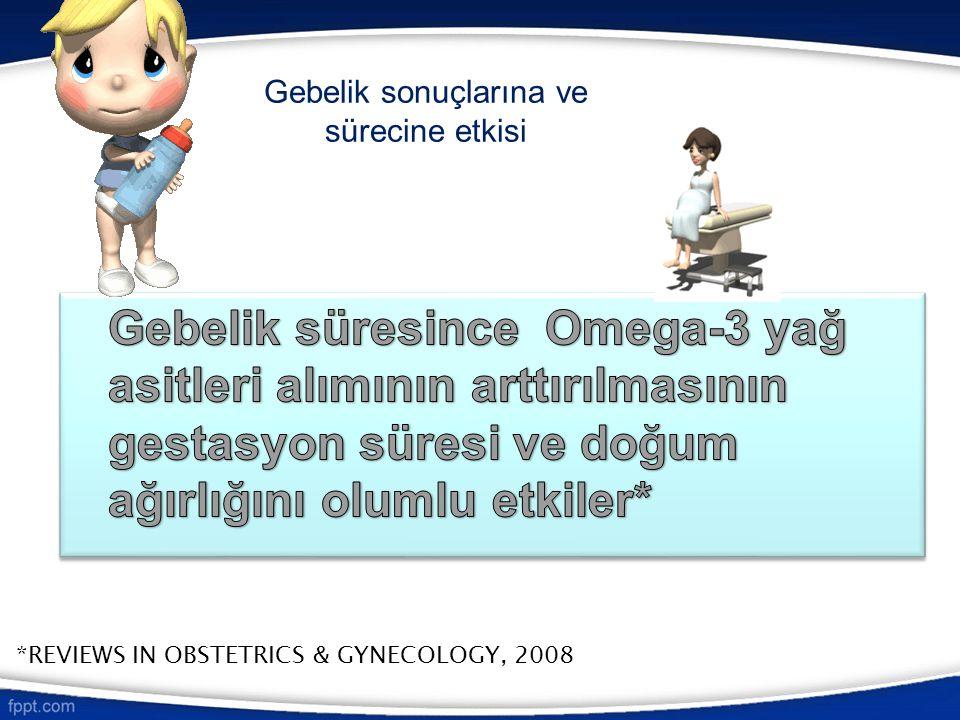 Gebelik sonuçlarına ve sürecine etkisi *REVIEWS IN OBSTETRICS & GYNECOLOGY, 2008