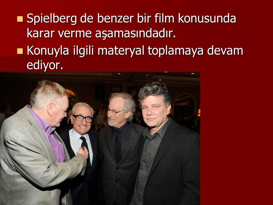 Spielberg de benzer bir film konusunda karar verme aşamasındadır. Spielberg de benzer bir film konusunda karar verme aşamasındadır. Konuyla ilgili mat