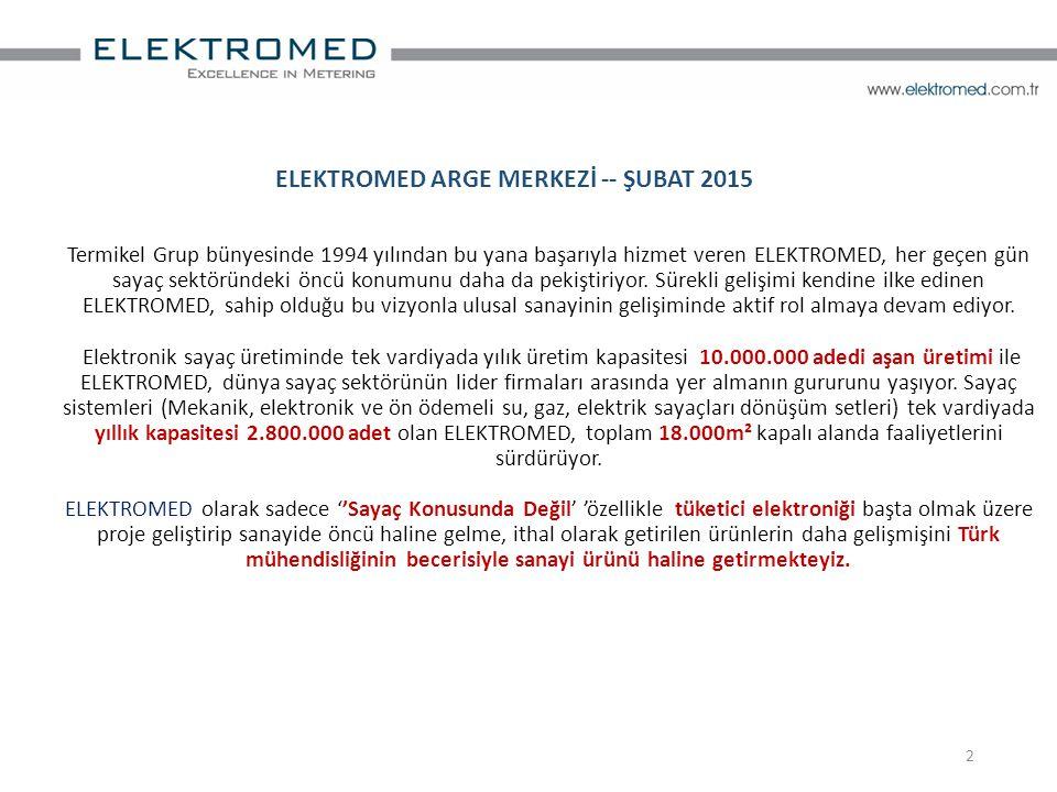 2 Termikel Grup bünyesinde 1994 yılından bu yana başarıyla hizmet veren ELEKTROMED, her geçen gün sayaç sektöründeki öncü konumunu daha da pekiştiriyo