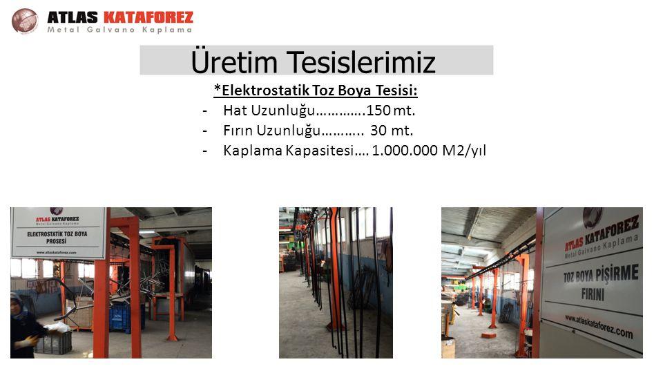 *Elektrostatik Toz Boya Tesisi: -Hat Uzunluğu………….150 mt.