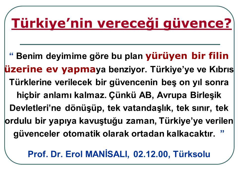 Türkiye'nin vereceği güvence.