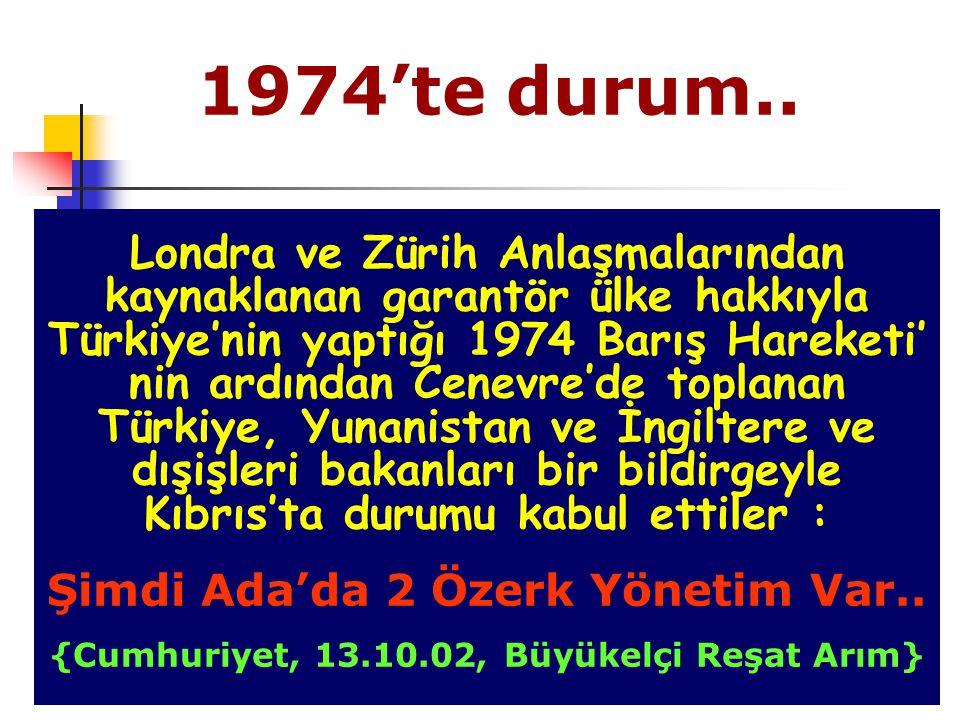 1974'te durum..