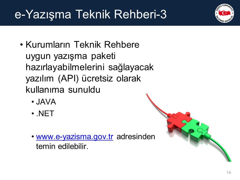 Kurumların Teknik Rehbere uygun yazışma paketi hazırlayabilmelerini sağlayacak yazılım (API) ücretsiz olarak kullanıma sunuldu JAVA.NET www.e-yazisma.