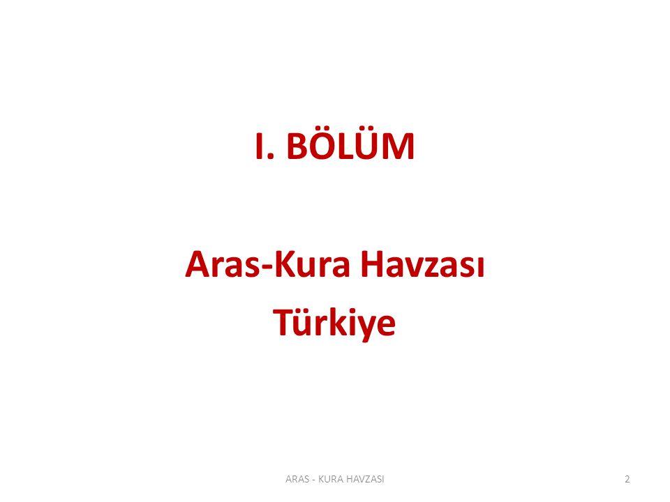 Türkiye'nin Akarsu Havzaları Türkiye'nin Akarsu Havzaları ARAS - KURA HAVZASI 3 Alan: ~2.8 milyon ha Nüfus: ~800.000kişi Ort.