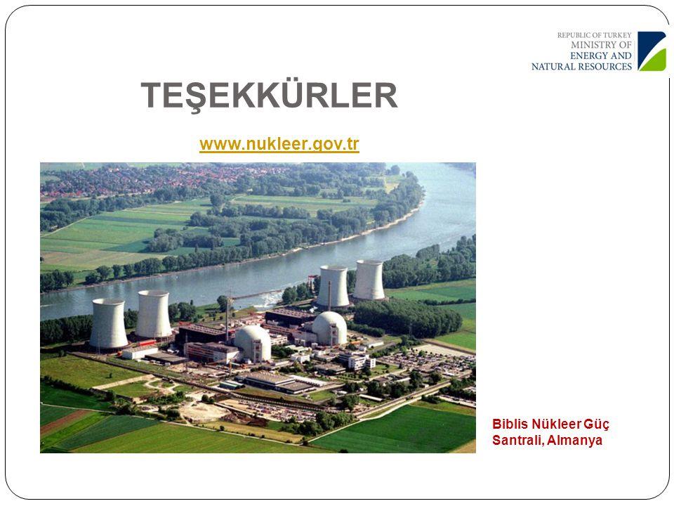 TEŞEKKÜRLER www.nukleer.gov.tr www.nukleer.gov.tr Biblis Nükleer Güç Santrali, Almanya