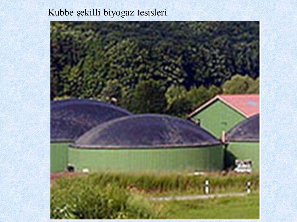 Kubbe şekilli biyogaz tesisleri