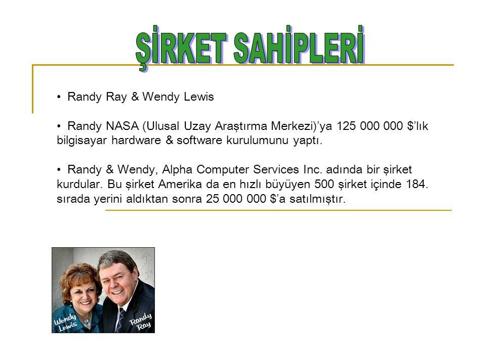 Randy Ray & Wendy Lewis Randy NASA (Ulusal Uzay Araştırma Merkezi)'ya 125 000 000 $'lık bilgisayar hardware & software kurulumunu yaptı. Randy & Wendy