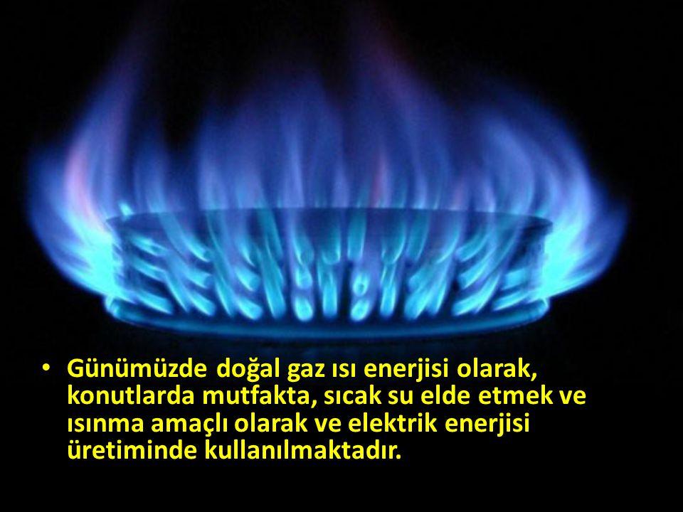 Günümüzde doğal gaz ısı enerjisi olarak, konutlarda mutfakta, sıcak su elde etmek ve ısınma amaçlı olarak ve elektrik enerjisi üretiminde kullanılmakt