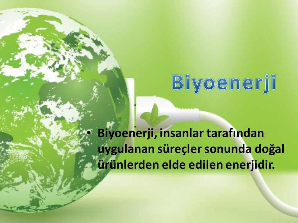 Biyoenerji, insanlar tarafından uygulanan süreçler sonunda doğal ürünlerden elde edilen enerjidir.
