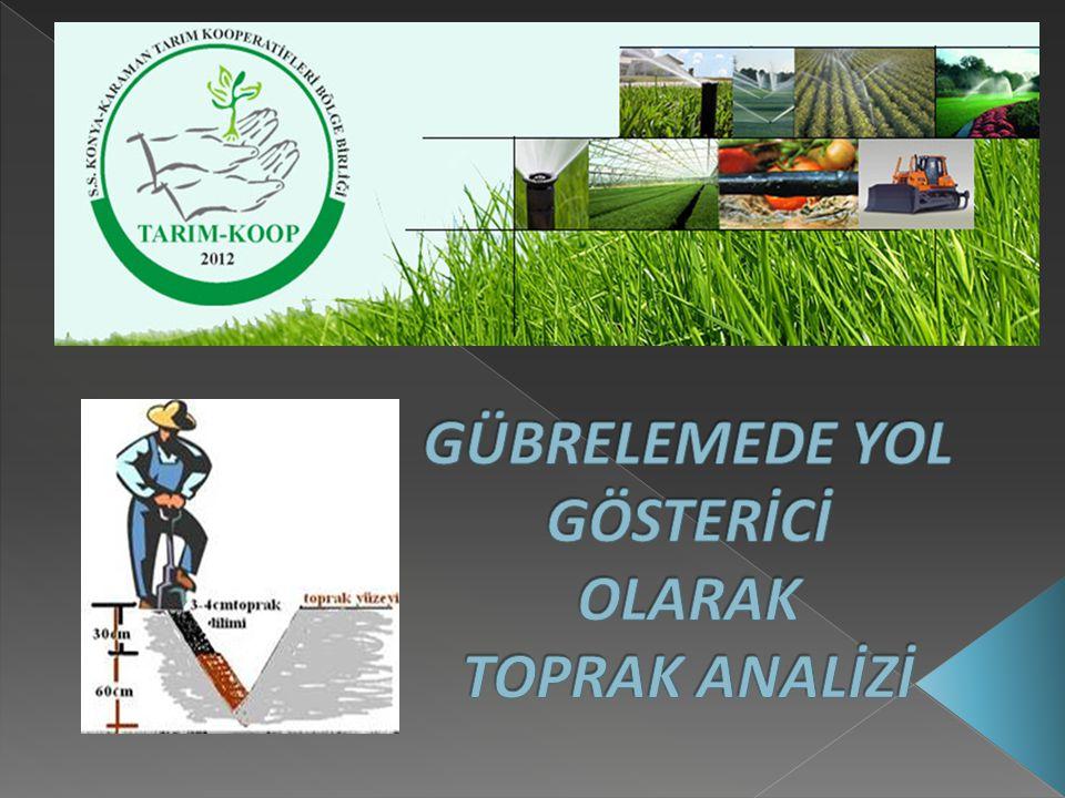 Toprak analizi toprağın gübre ve kireç ihtiyacını ortaya koyan bilimsel bir yöntem olarak tanımlanır.