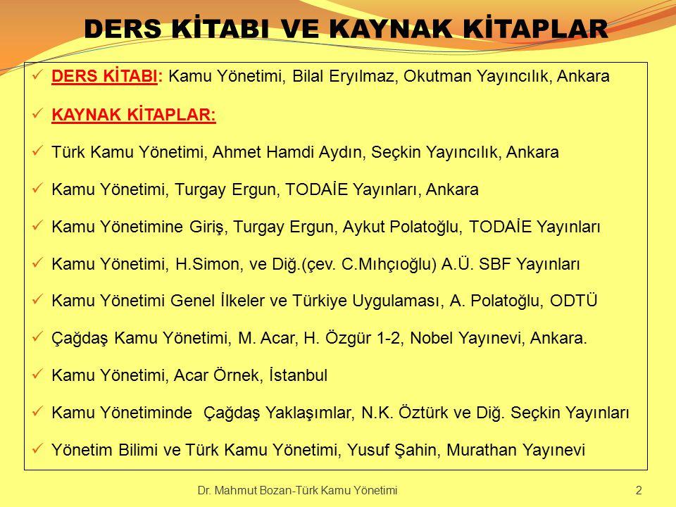 DERGİLER Amme İdaresi Dergisi (TODAİE)Türk İdare Dergisi Afyon Kocatepe Ün.