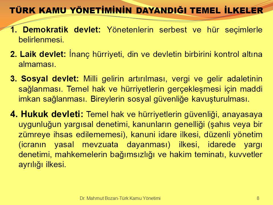 KİTLERİN YÖNETİMİ Dr. Mahmut Bozan-Türk Kamu Yönetimi 109