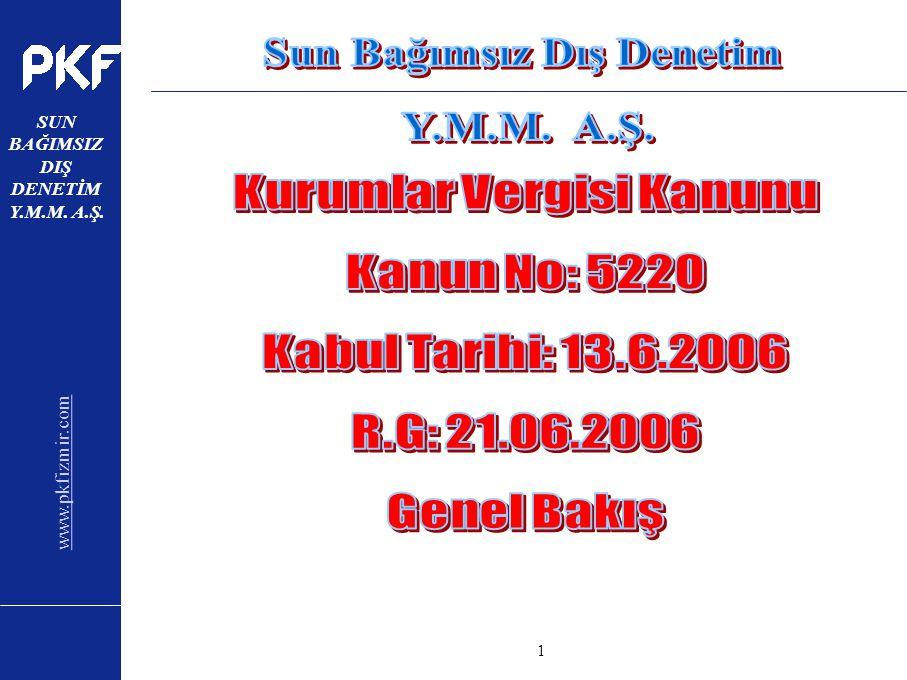 www.pkfizmir.com SUN BAĞIMSIZ DIŞ DENETİM Y.M.M. A.Ş. sayfa1