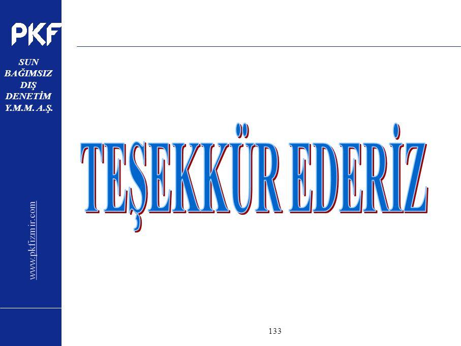 www.pkfizmir.com SUN BAĞIMSIZ DIŞ DENETİM Y.M.M. A.Ş. sayfa133