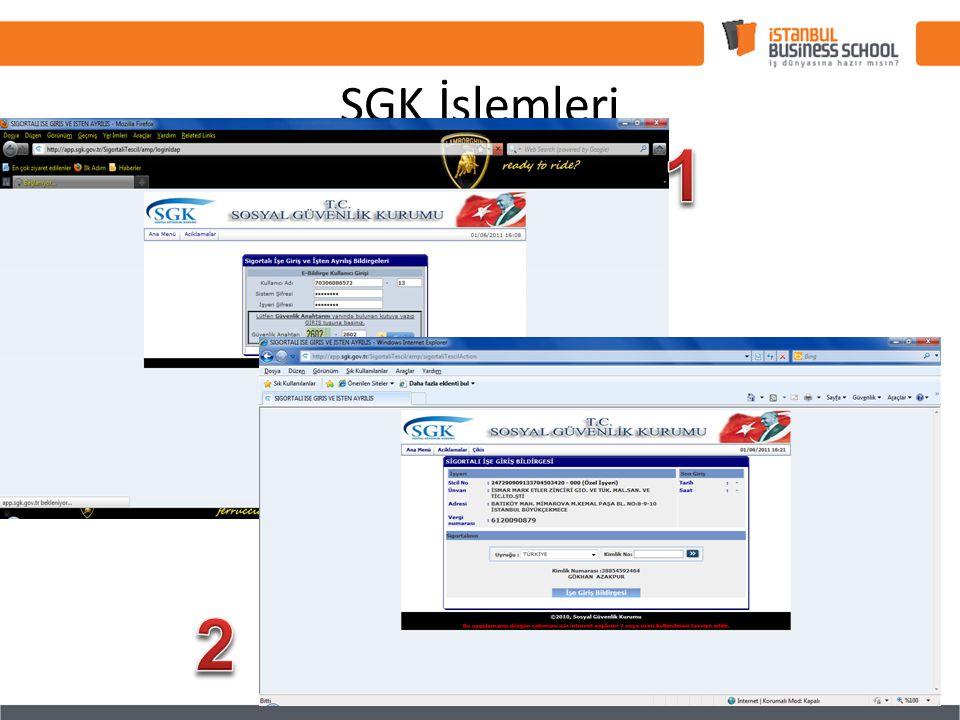 SGK İşlemleri