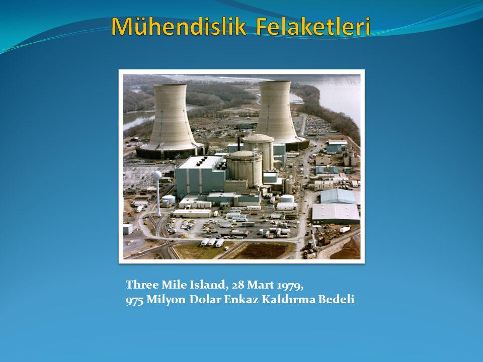 Three Mile Island, 28 Mart 1979, 975 Milyon Dolar Enkaz Kaldırma Bedeli