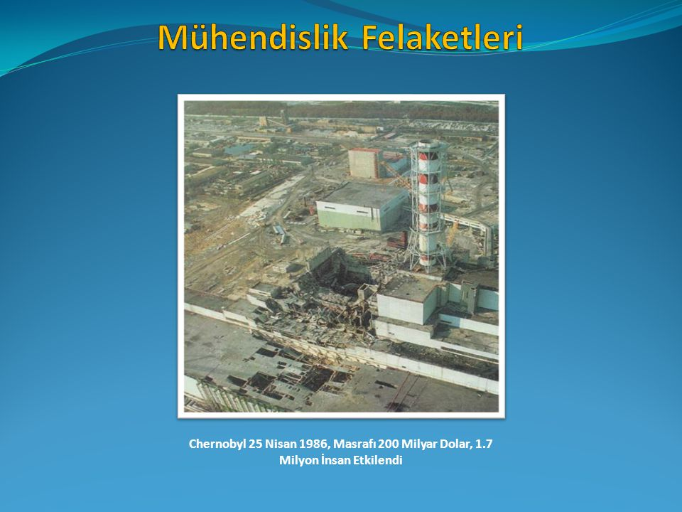 Chernobyl 25 Nisan 1986, Masrafı 200 Milyar Dolar, 1.7 Milyon İnsan Etkilendi