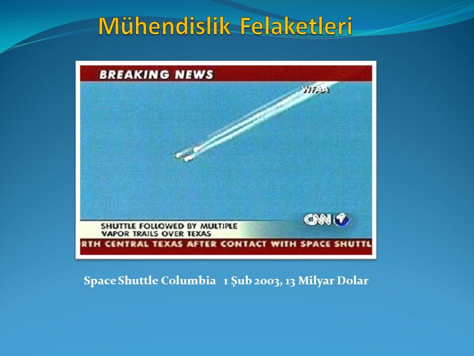 Space Shuttle Columbia 1 Şub 2003, 13 Milyar Dolar