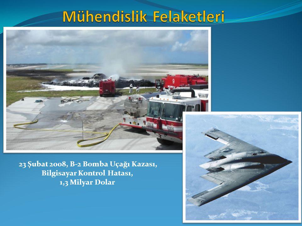 23 Şubat 2008, B-2 Bomba Uçağı Kazası, Bilgisayar Kontrol Hatası, 1,3 Milyar Dolar