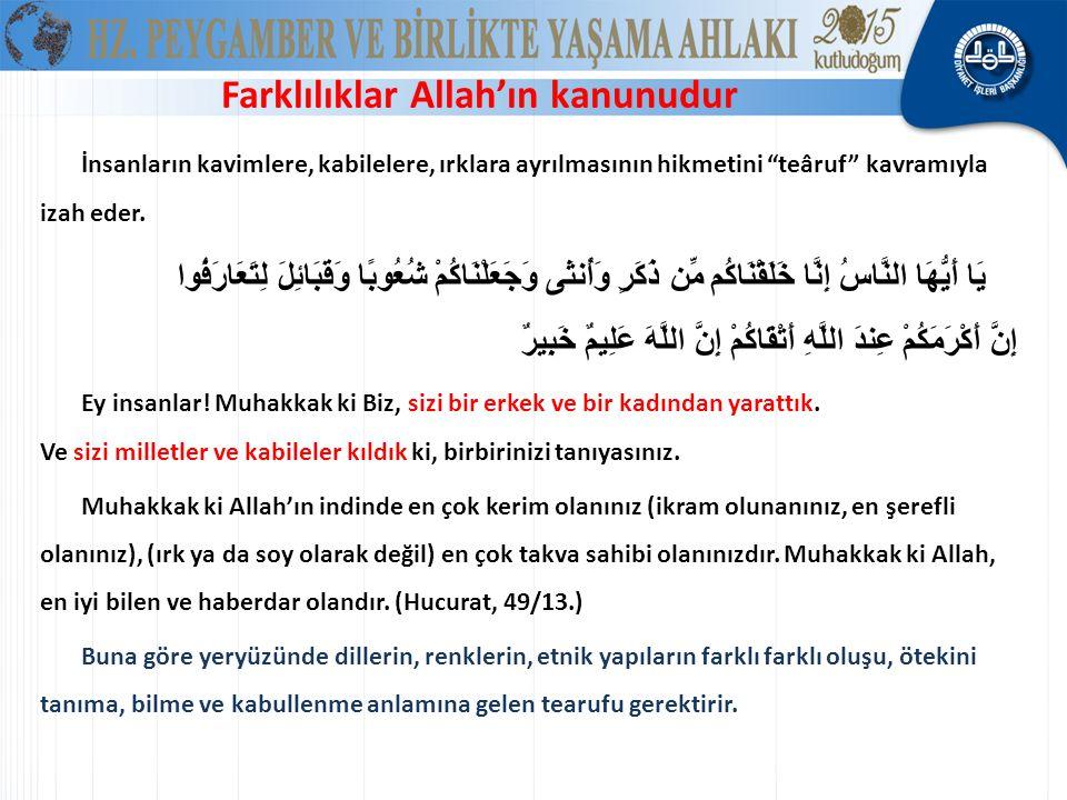 Sizi bir erkek ve bir kadından yarattık. ve sizi milletler ve kabileler kıldık İstanbul: %65 Türk, %20 Kürt, %15 Türkiye'deki Türk ve Kürt hariç tüm d