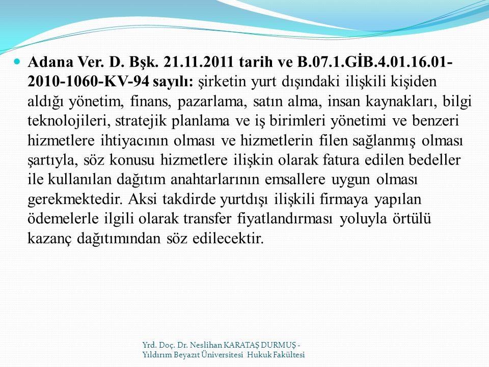 Adana Ver.D. Bşk.