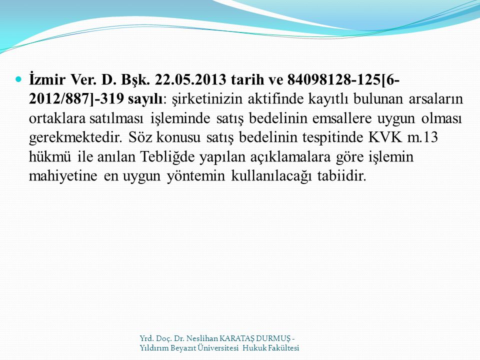 İzmir Ver.D. Bşk.
