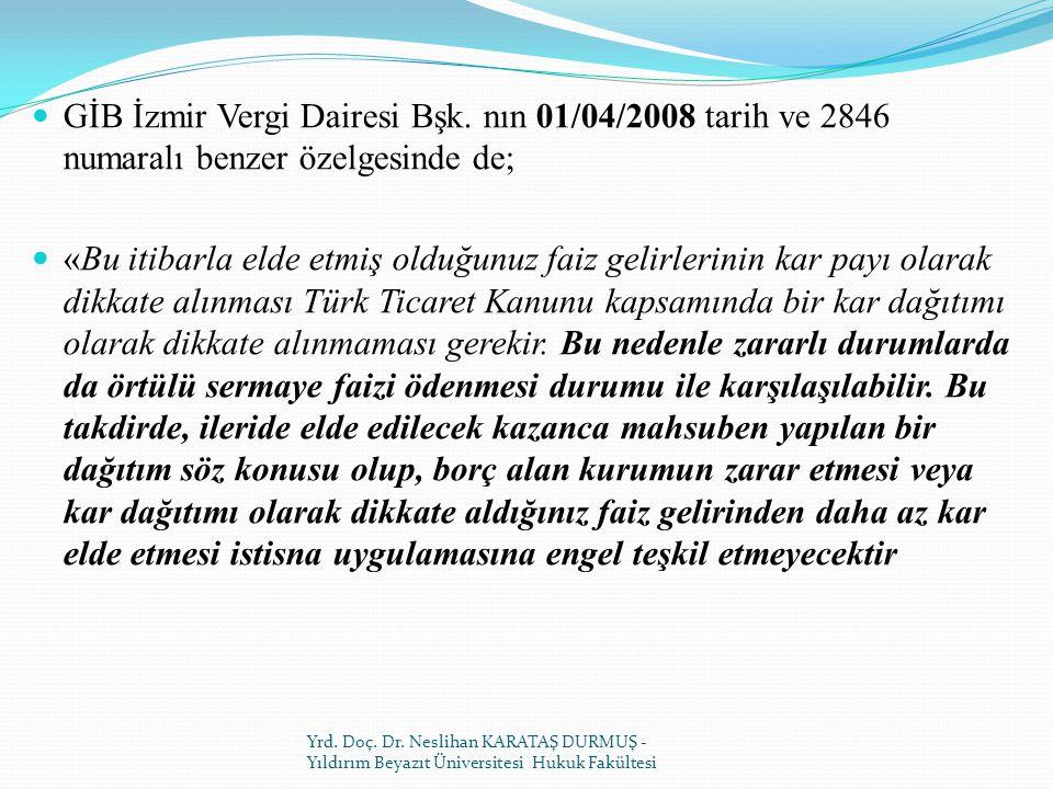 GİB İzmir Vergi Dairesi Bşk.