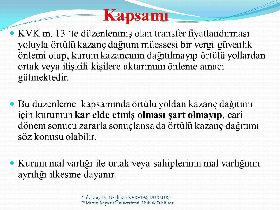 Kapsamı KVK m.