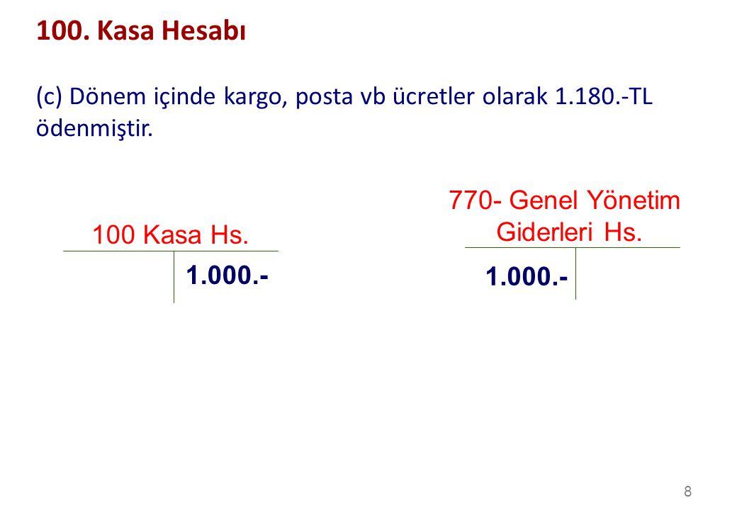 8 100 Kasa Hs.1.000.- 100.