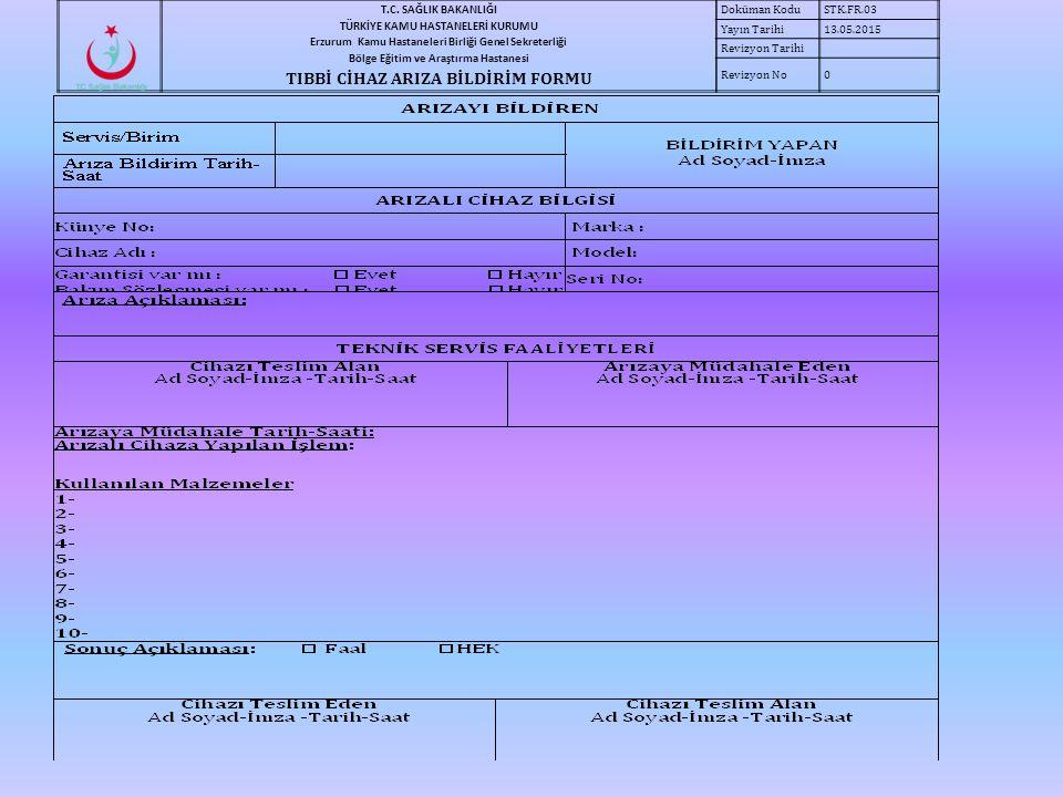 T.C. SAĞLIK BAKANLIĞI TÜRKİYE KAMU HASTANELERİ KURUMU Erzurum Kamu Hastaneleri Birliği Genel Sekreterliği Bölge Eğitim ve Araştırma Hastanesi TIBBİ Cİ