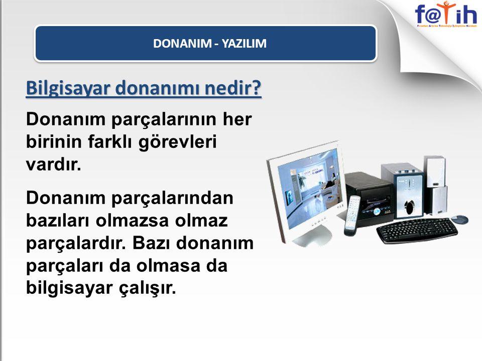 DONANIM - YAZILIM İç Donanım Parçaları Ekran Kartı Bilgisayardaki bilgileri kullanıcının görebilmesi için monitöre gönderir.