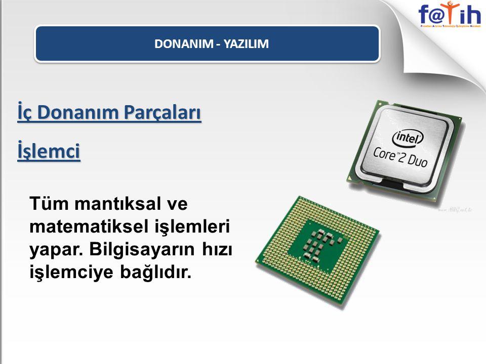 DONANIM - YAZILIM Dış Donanım Parçaları ADSL Modem ADSL bağlantı türü ile internete bağlanmamızı sağlar.