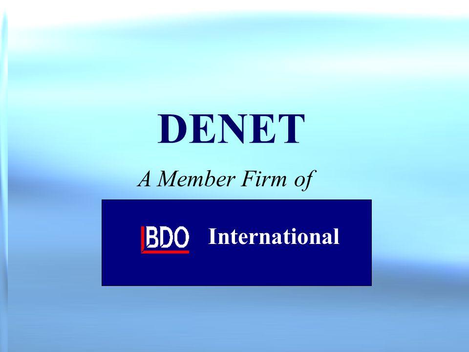 1 DENET A Member Firm of International
