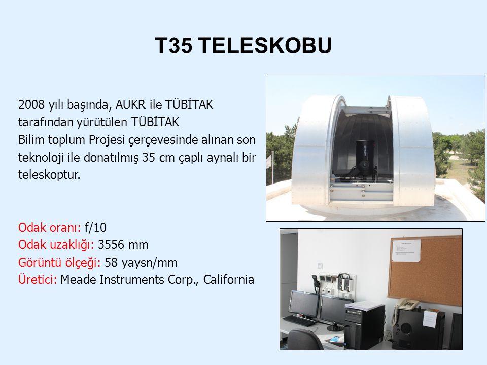 T35 TELESKOBU 2008 yılı başında, AUKR ile TÜBİTAK tarafından yürütülen TÜBİTAK Bilim toplum Projesi çerçevesinde alınan son teknoloji ile donatılmış 3