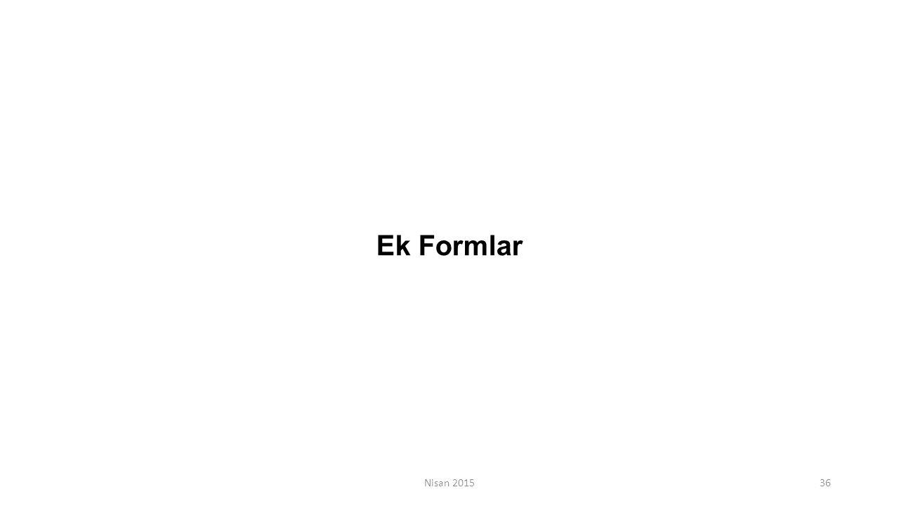 Nisan 201536 Ek Formlar